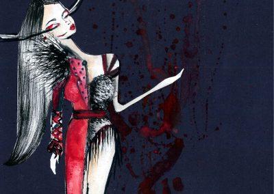 Dress illustrations for Sandra Afrika